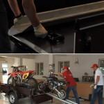 Перевозка мотоцикла в прицепе